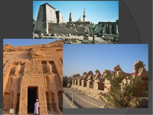 The architecture of ancient Egypt known to us by the constructions of tombs,