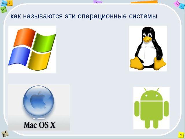 как называются эти операционные системы 2 Tab 9 Alt Ins Esc End O Щ
