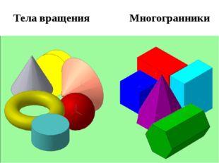 Многогранники Тела вращения