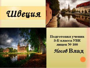 Носов Влад Швеция Подготовил ученик 3-Б класса УВК лицея № 100