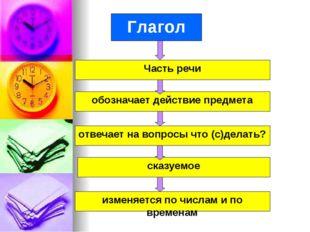 Глагол изменяется по числам и по временам сказуемое отвечает на вопросы что (