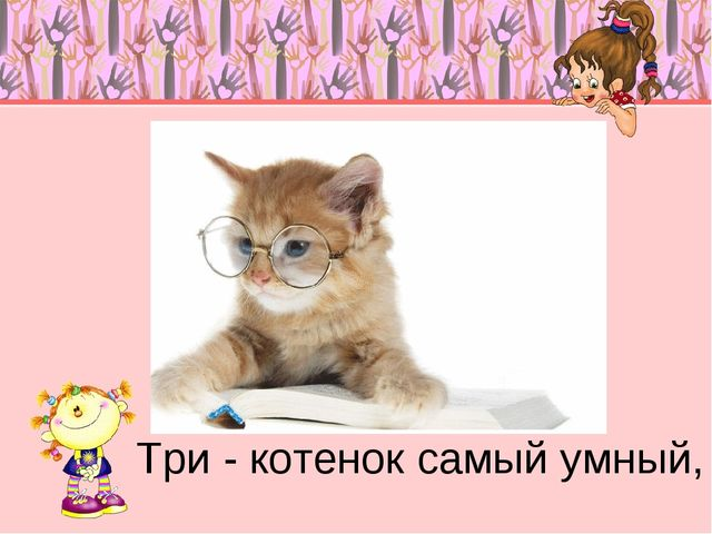 Три - котенок самый умный,