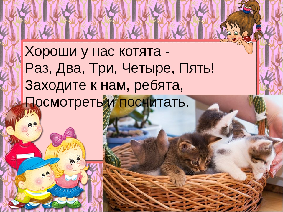 Хороши у нас котята - Раз, Два, Три, Четыре, Пять! Заходите к нам, ребята, По...