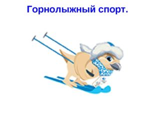 Горнолыжный спорт.