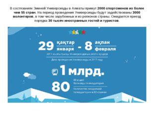 В состязаниях Зимней Универсиады в Алматы примут 2000 спортсменов из более че
