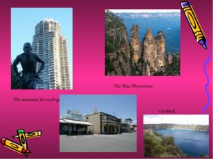 The memorial for surfing The Blue Mountains Outback