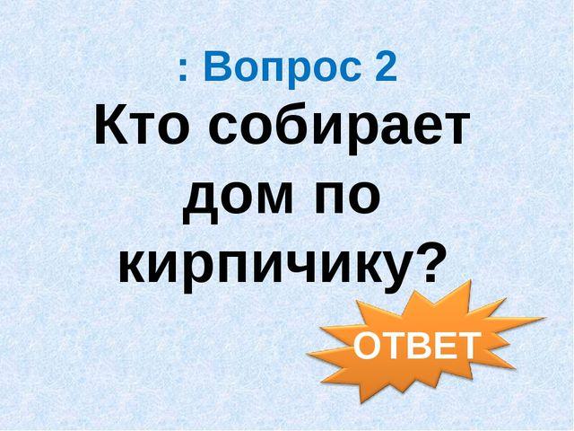 : Вопрос 2 Кто собирает дом по кирпичику?