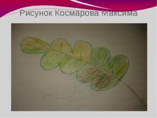 Рисунок Космарова Максима