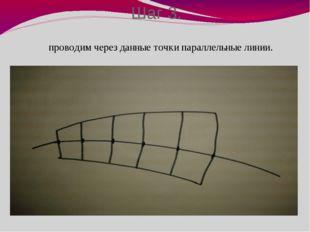 Шаг 3. проводим через данные точки параллельные линии.