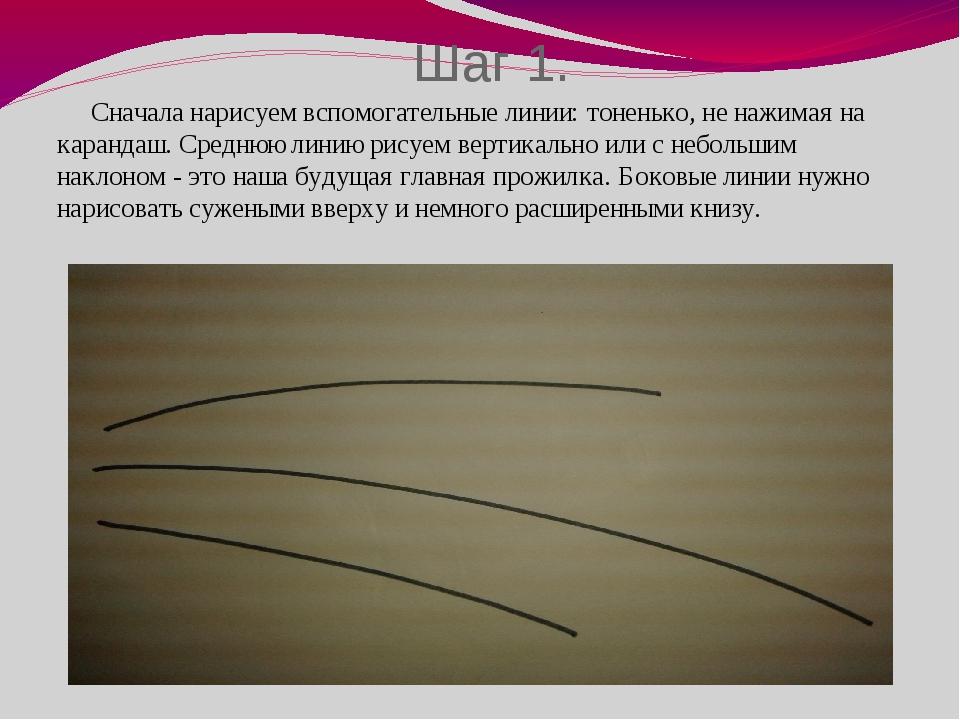 Шаг 1. Сначала нарисуем вспомогательные линии: тоненько, не нажимая на каранд...