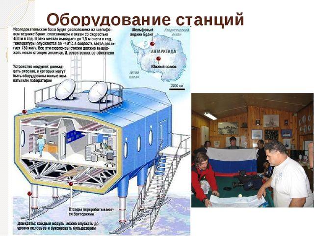 Оборудование станций