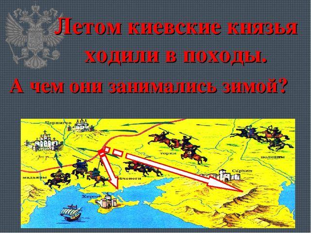 Летом киевские князья ходили в походы. А чем они занимались зимой?