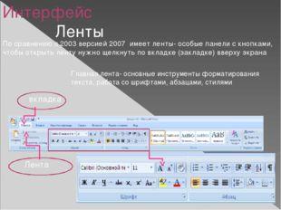 Лента вставка- для добавления в документ таблиц, картинок, звуков видео, диаг