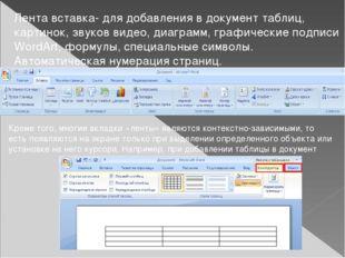 Лента разметка страниц- границы страницы, размеры полей, абзацных отступов, ф