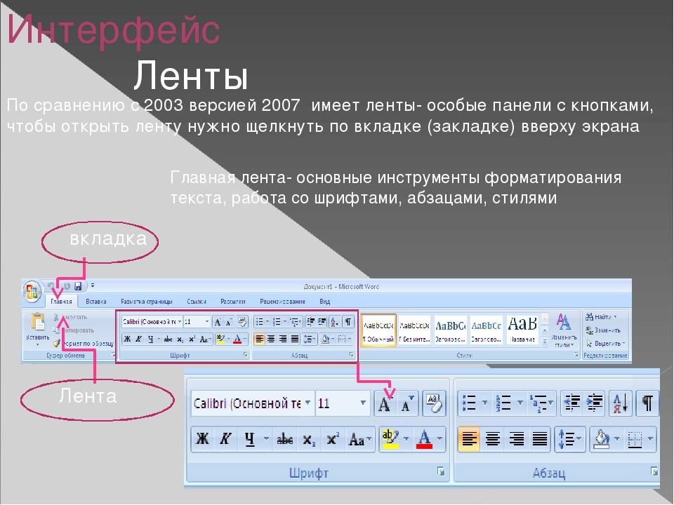 Лента вставка- для добавления в документ таблиц, картинок, звуков видео, диаг...
