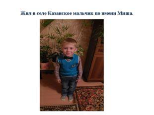 Жил в селе Казанское мальчик по имени Миша.