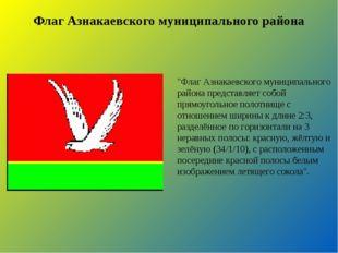 """Флаг Азнакаевского муниципального района """"Флаг Азнакаевского муниципального р"""