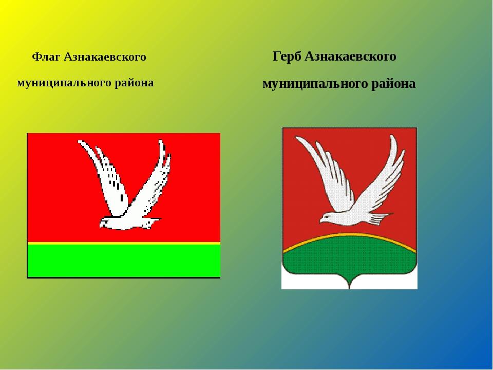 Флаг Азнакаевского муниципального района Герб Азнакаевского муниципального р...