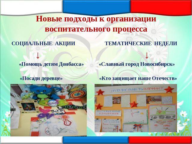 Новые подходы к организации воспитательного процесса СОЦИАЛЬНЫЕ АКЦИИ ТЕМАТИЧ...