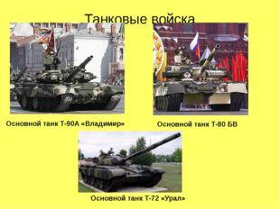 Танковые войска Основной танк Т-90А «Владимир» Основной танк Т-80 БВ Основной