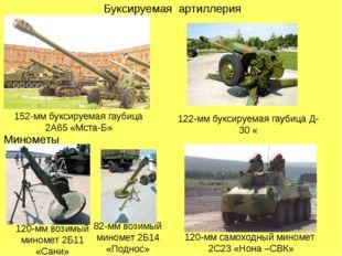 Буксируемая артиллерия 152-мм буксируемая гаубица 2А65 «Мста-Б» 122-мм буксир