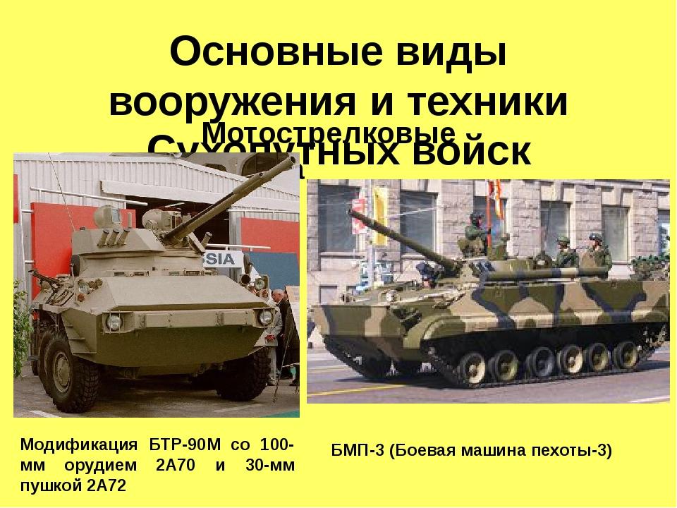 Основные виды вооружения и техники Сухопутных войск Мотострелковые войска Мод...