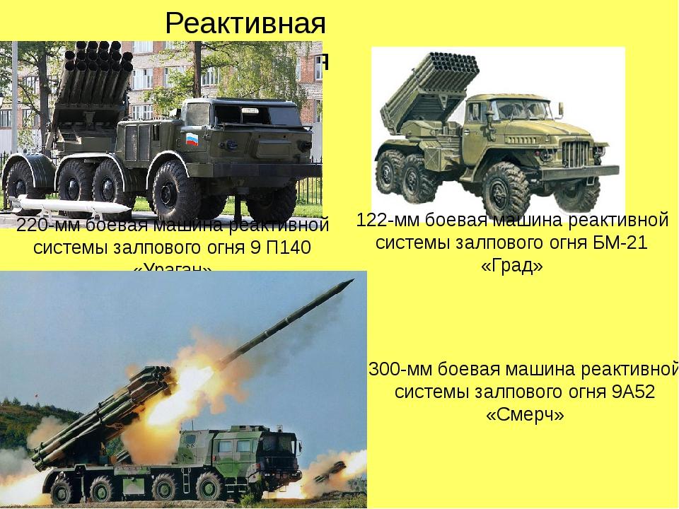 Реактивная артиллерия 220-мм боевая машина реактивной системы залпового огня...