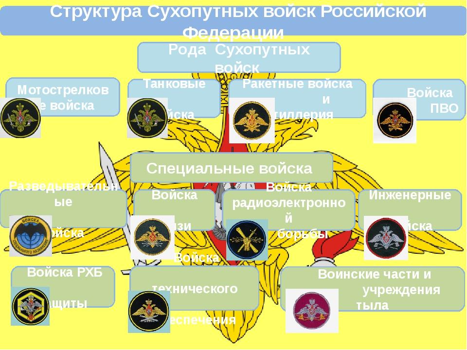 Структура Сухопутных войск Российской Федерации Рода Сухопутных войск Мотост...