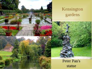 Kensington gardens Peter Pan's statue 