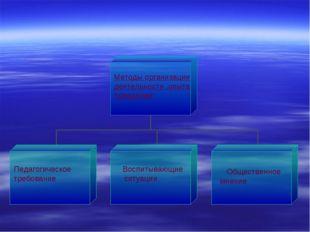 Методы организации деятельности ,опыта поведения: Педагогическое требование В