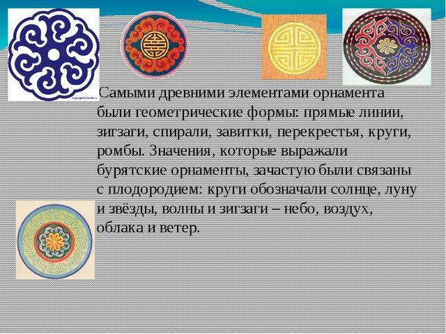 Самыми древними элементами орнамента были геометрические формы: прямые линии...