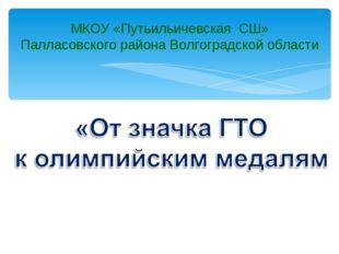 МКОУ «Путьильичевская СШ» Палласовского района Волгоградской области