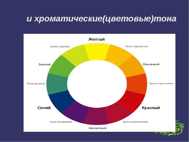 и хроматические(цветовые)тона