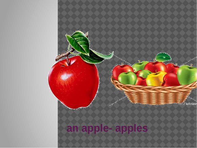 an apple- apples