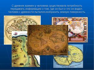 С древних времен у человека существовала потребность передавать информацию о