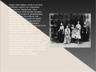 Семья Цветаевых жила в уютном особняке одного из старинных московских переулк