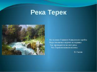 Река Терек На склонах Главного Кавказского хребта Вода тихонечко журчит из ле