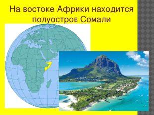 На востоке Африки находится полуостров Сомали