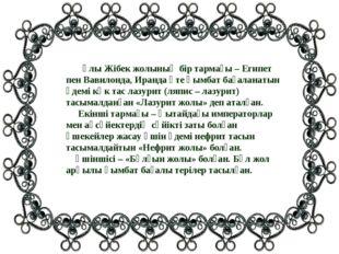 Ұлы Жібек жолының бір тармағы – Египет пен Вавилонда, Иранда өте қымбат баға