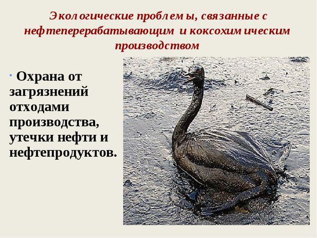 Экологические проблемы, связанные с нефтеперерабатывающим и коксохимическим п...