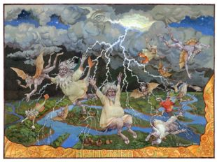 Поговаривали, что от молний Перуна вся нечистая сила погибает, а живая вода,