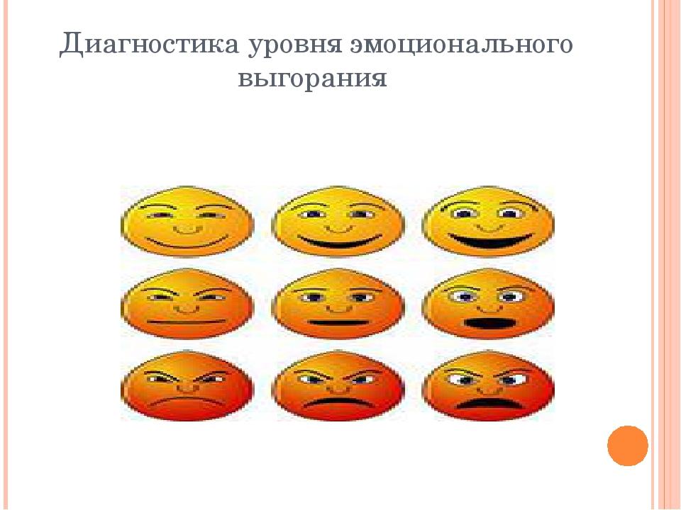 Диагностика уровня эмоционального выгорания