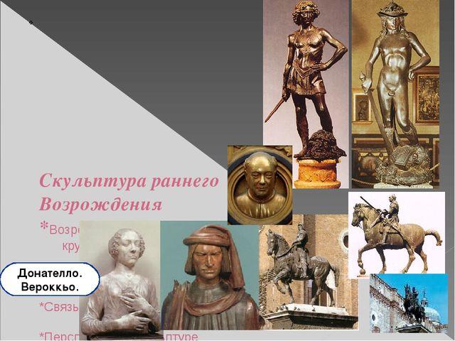 Скульптура раннего Возрождения *Возрождение самостоятельно стоящей круглой...