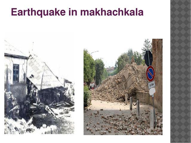 Earthquake in makhachkala