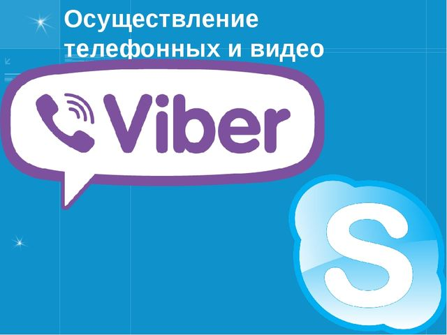 Осуществление телефонных и видео звонков