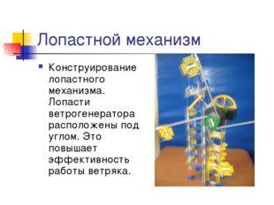 Лопастной механизм Конструирование лопастного механизма. Лопасти ветрогенерат