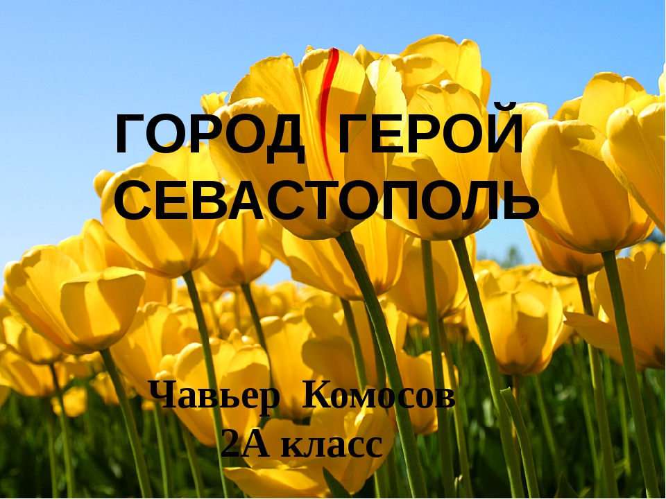 Чавьер Комосов 2А класс ГОРОД ГЕРОЙ СЕВАСТОПОЛЬ