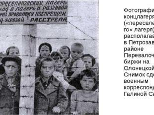 Фотография концлагеря («переселенческого» лагеря), располагавшегося в Петроза