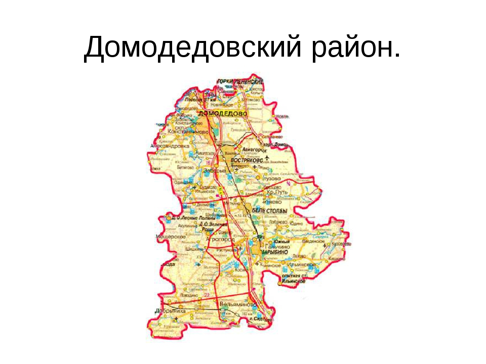 Домодедовский район.