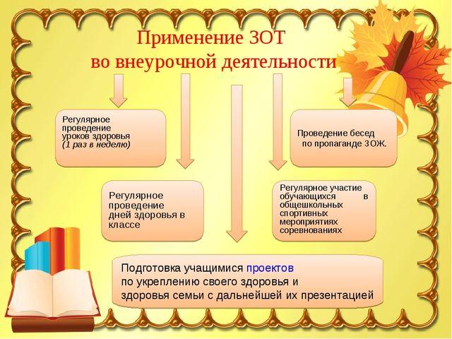 Регулярное проведение уроков здоровья (1 раз в неделю) Проведение бесед по пр...